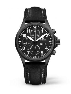 Damasko DC56 Si Black Chronograph Watch