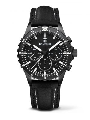 Damasko DC86 Black Chronograph Watch