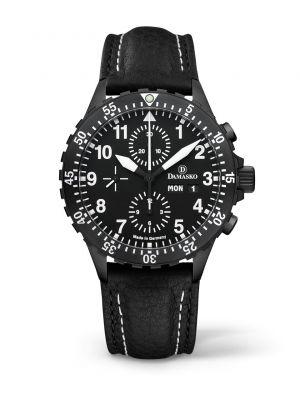 Damasko DC66 Black Chronograph Watch