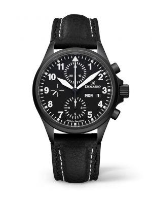 Damasko DC56 Black Chronograph Watch